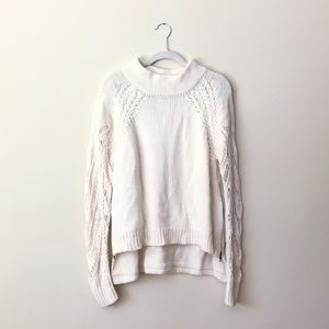 Cream Knit French Connection Sweater